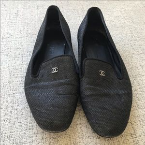Chanel sequin loafers